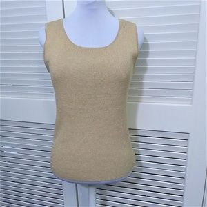 Coldwater Creek Sleeveless Gold Shimmer Tank